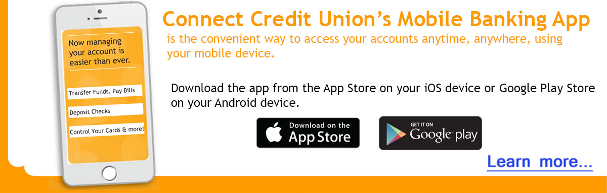 Our Mobile Banking App is the convenient way to access your accounts, using your mobile device